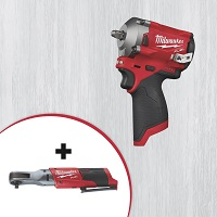 Deals on Milwaukee M12 FUEL Stubby 3/8in. Impact Wrench + 3/8in. Ratchet