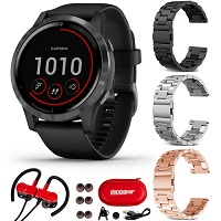 Garmin Vivoactive 4 GPS Smartwatch w/3 Bands + Headphones