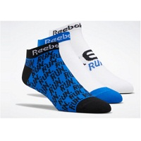 Deals on 3 Pairs Reebok Men Running Run Club Socks