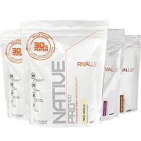 Deals on 4-PK 12 Servings Rivalus Native Pro 100 Whey Protein Isolate