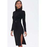 Deals on Forever 21 Womens Ribbed Mock Neck Dress