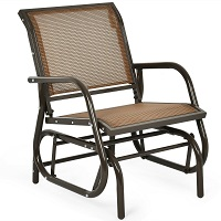 Deals on Costway Outdoor Single Swing Glider Rocking Chair w/Armrest