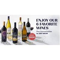 Deals on 6 Favorite Wines + 3 Bonus Bottles